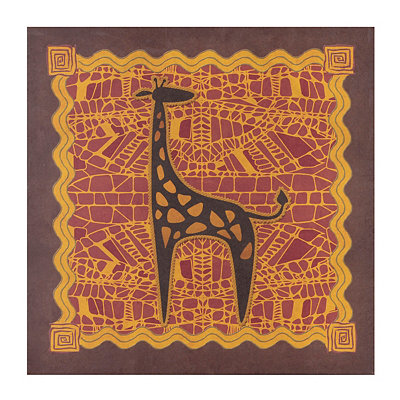 Giraffe Tribal Wildlife Canvas Art Print