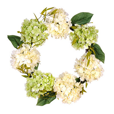 Cream And Green Hydrangea Wreath