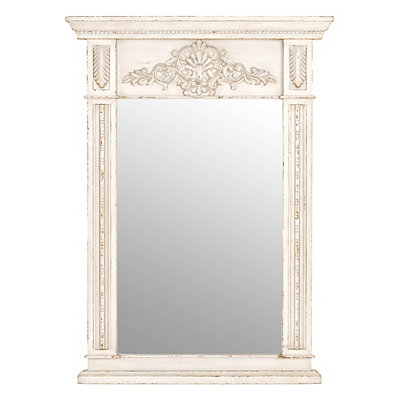 Cream Trumeau Framed Mirror, 35.5x49