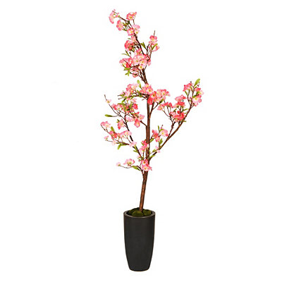 Pink Peach Blossom Tree, 49 in.