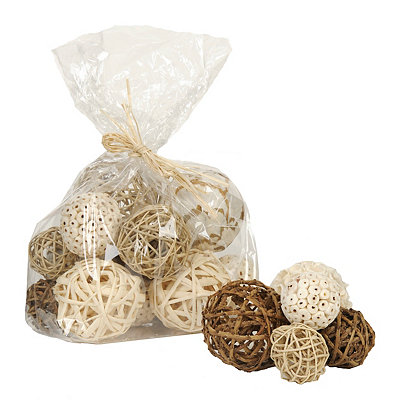 Tan and White Dried Orb Set