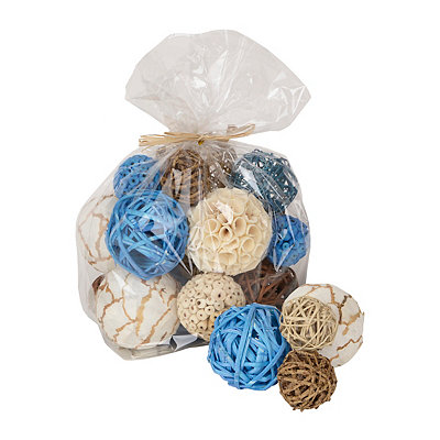 Sea Blue and Brown Dried Orb Set