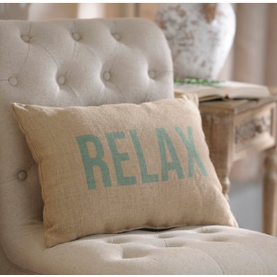 Relax Burlap Pillow