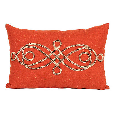 Orange Scroll Rope Accent Pillow