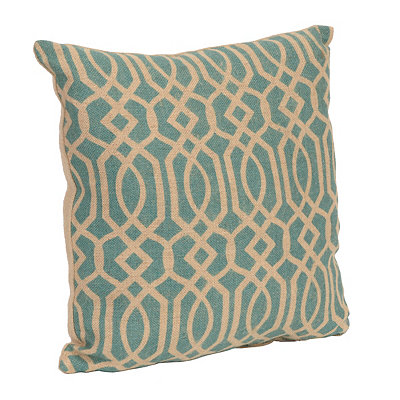 Aqua Burlap Gatehill Pillow