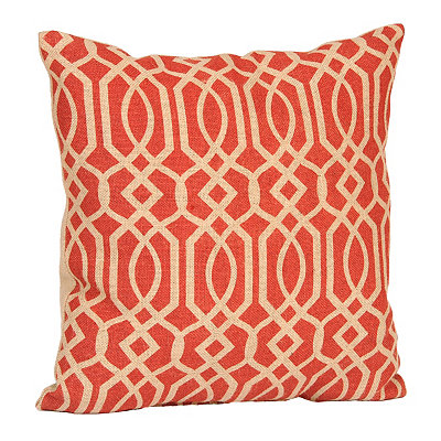 Spice Geometric Burlap Pillow