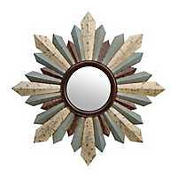 Hattie Distressed Sunburst Mirror