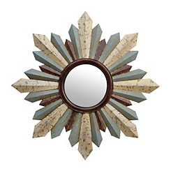 Hattie Distressed Sunburst Mirror