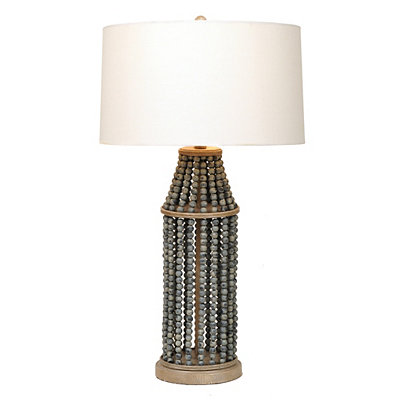 Barnwood Blue Beads Table Lamp