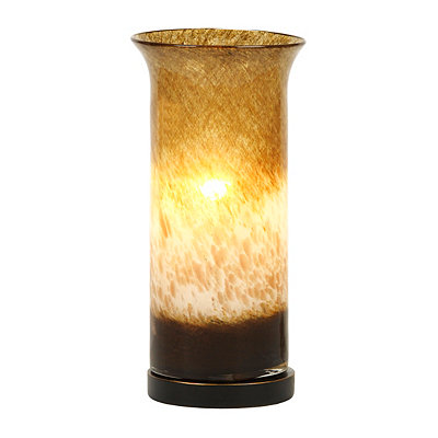 Metallic Brown Ombre Glass Uplight