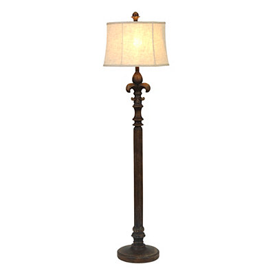 Distressed Fleur-de-lis Floor Lamp
