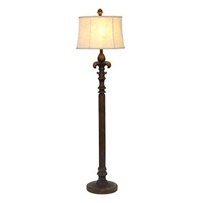 Distressed Fleur-de-lis Floor Lamp