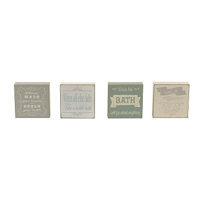 Elegant Bath Word Blocks