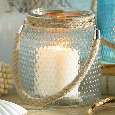 Clear Hobnail Glass Lantern