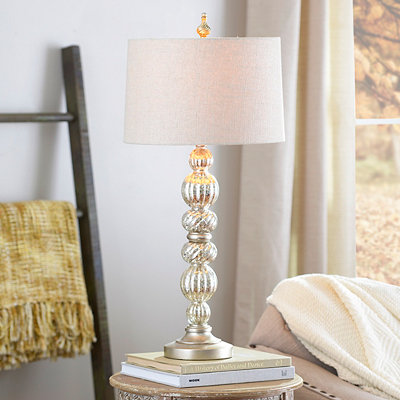 Champagne Mercury Glass Table Lamp