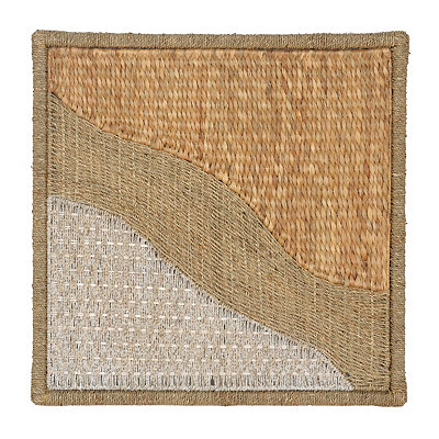 Tan Woven Water Hyacinth Plaque