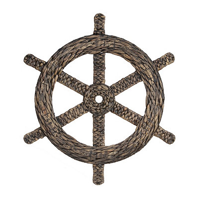 Natural Woven Ship's Wheel Plaque
