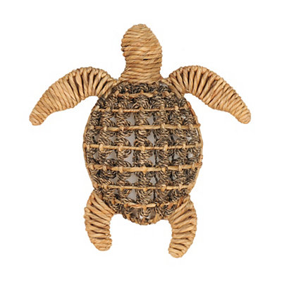 Natural Woven Sea Turtle Plaque
