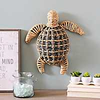 Natural Woven Sea Turtle Plaque