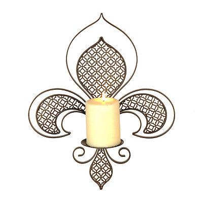 Fleur-de-lis Cutout Metal Sconce