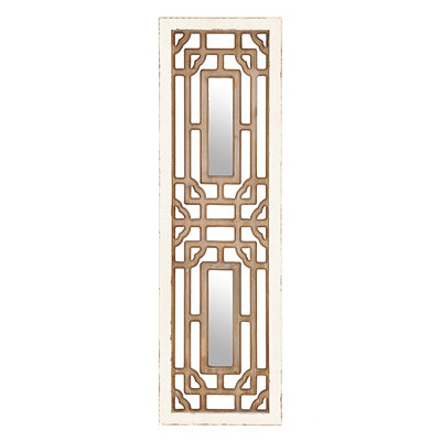 Mirrored Geometric Wooden Plaque