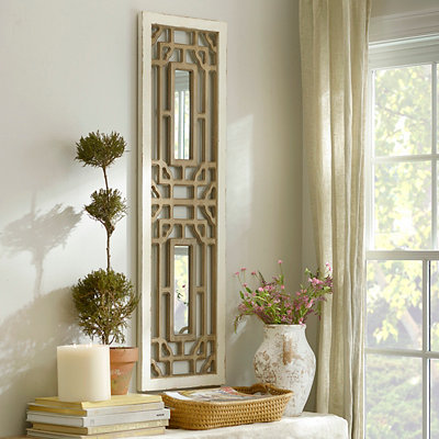 Mirrored Geometric Wooden Plaque