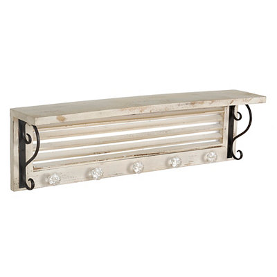 Distressed Cream Shutter Shelf