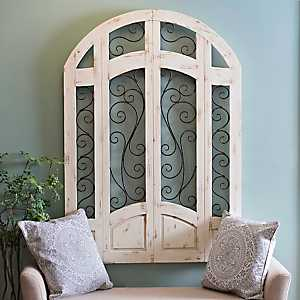 Distressed Ivory Grand Gate Plaque