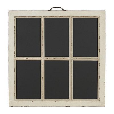 Ivory Window Pane Chalkboard