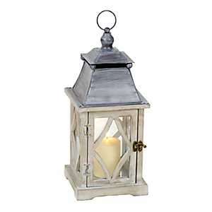 Rustic White and Gray Lantern