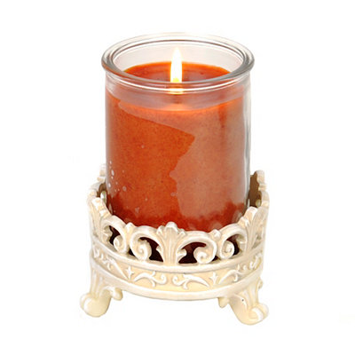 White Baroque Jar Candle Holder