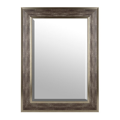 Brushed Gray Framed Mirror, 33x46