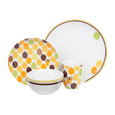 Little Hoot 16-pc. Dinnerware Set