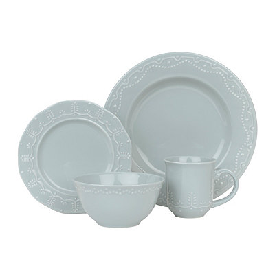 Paula Deen Aqua Whitaker 16-pc. Dinnerware Set
