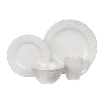 Cream Paisley Vine 16-pc. Dinnerware Set