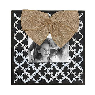 Black & White Quatrefoil Picture Frame, 5x7