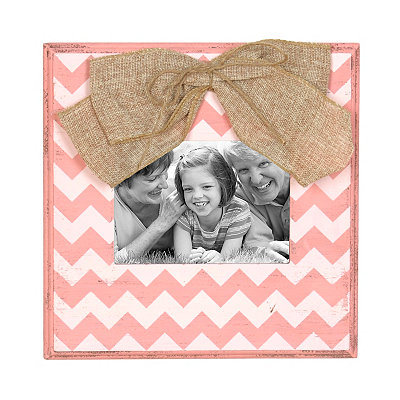 Pink & White Chevron Picture Frame, 5x7