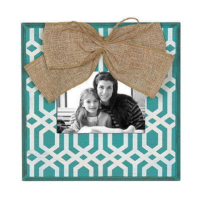 Turquoise & White Geometric Picture Frame, 5x7