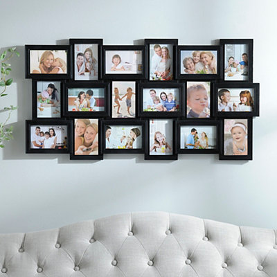 Black 18-Opening Collage Frame