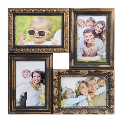 Vintage Bronze 4-Opening Collage Frame