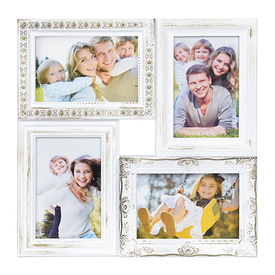 Vintage White 4-Opening Collage Frame