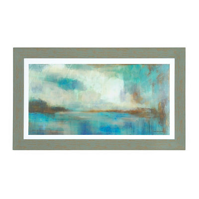 Soft Coastal Landscape Framed Art Print
