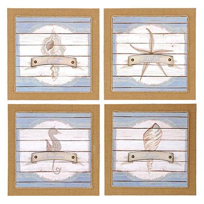 Coastal Sea Life Wooden Plaques