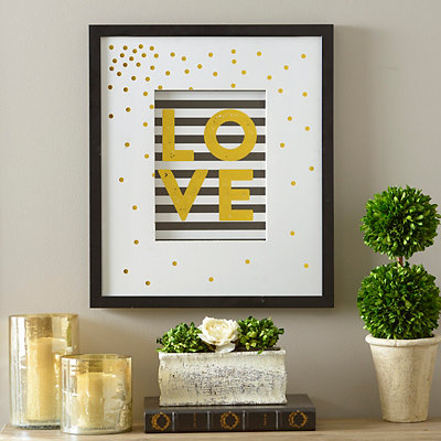 Gold Luxe Love Framed Art Print
