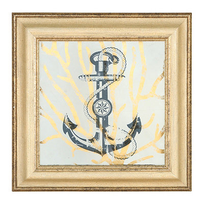 Metallic Gold Nautical Shadowboxes