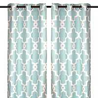 Aqua Maxwell Curtain Panel Set, 96 in.