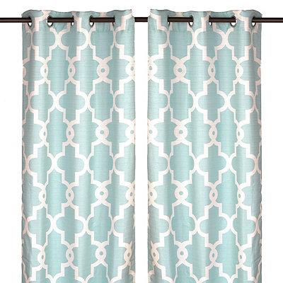 Aqua Maxwell Curtain Panel Set, 96 in.