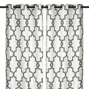 White Maxwell Curtain Panel Set, 96 in.