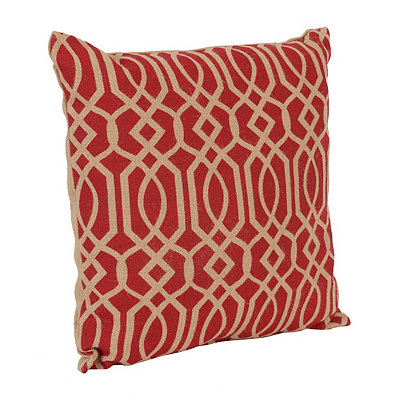 Red Burlap Gatehill Pillow