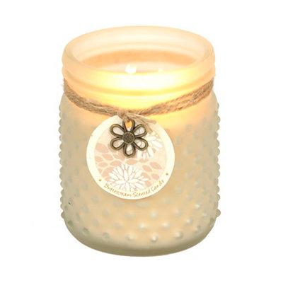 Buttercream Hobnail Jar Candle